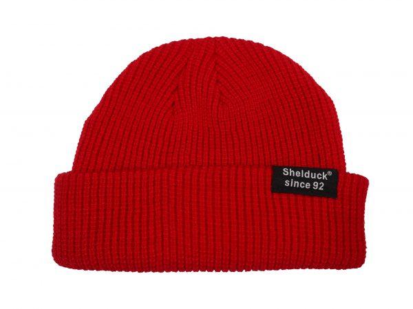 shelduck fisherman hats, red