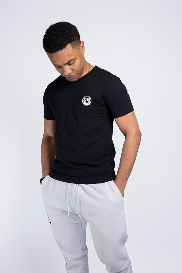 shelduck slim fit logo crest black