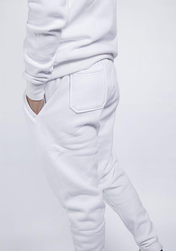 shelduck premium tracksuit, super thick set white and grey