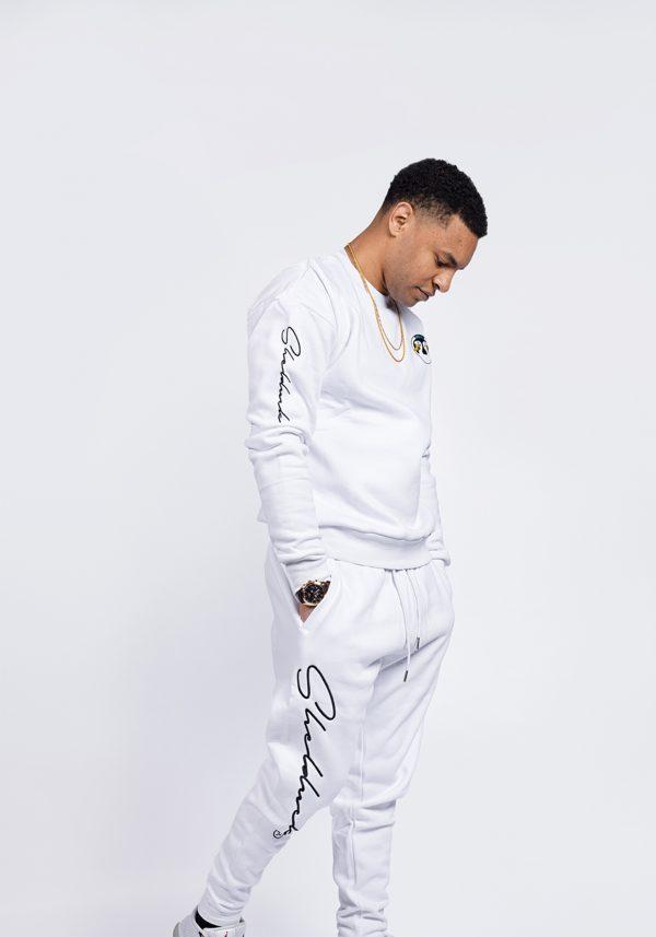 Shelduck premium track suit super thick set, white and grey